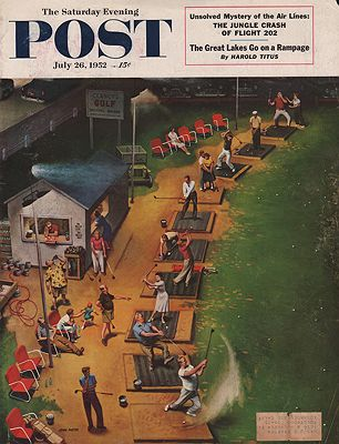 ORIG VINTAGE MAGAZINE COVER/ SATURDAY EVENING POST - JULY 26 1952illustrator- John  Falter - Product Image