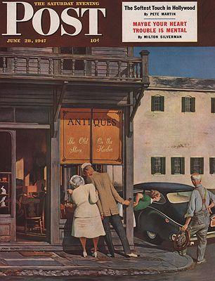 ORIG VINTAGE MAGAZINE COVER/ SATURDAY EVENING POST - JUNE 28 1947illustrator- John  Falter - Product Image