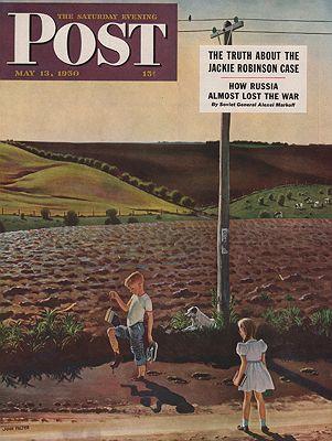 ORIG VINTAGE MAGAZINE COVER/ SATURDAY EVENING POST - MAY 13 1950illustrator- John  Falter - Product Image