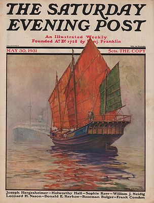 ORIG. VINTAGE MAGAZINE COVER/ SATURDAY EVENING POST - MAY 30 1931illustrator- Anton Otto  Fischer - Product Image