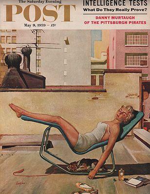 ORIG. VINTAGE MAGAZINE COVER/ SATURDAY EVENING POST - MAY 9 1959illustrator- George  Hughes - Product Image