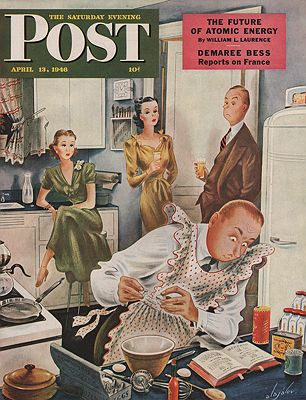 ORIG VINTAGE MAGAZINE COVER/ SATURDAY EVENING POST - APRIL 13 1946Alajalov (Illust.), Constantin, Illust. by: Constantin  Alajalov - Product Image