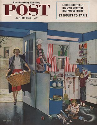 ORIG VINTAGE MAGAZINE COVER/ SATURDAY EVENING POST - APRIL 18 1953Falter (Illust.), John, Illust. by: John  Falter - Product Image
