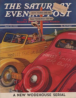 ORIG VINTAGE MAGAZINE COVER/ SATURDAY EVENING POST - APRIL 22 1939Sheridan (Illust.), John, Illust. by: John  Sheridan - Product Image