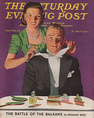 ORIG VINTAGE MAGAZINE COVER - SATURDAY EVENING POST - APRIL 26 1941Phillips (Illust.), John Hyde, Illust. by: John Hyde  Phillips - Product Image