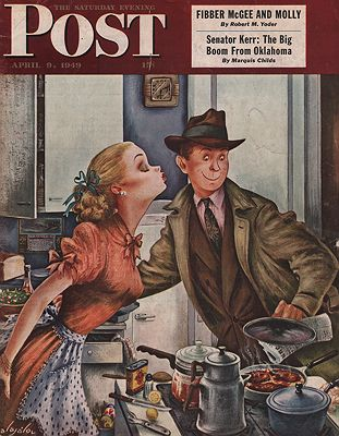 ORIG VINTAGE MAGAZINE COVER/ SATURDAY EVENING POST - APRIL 9 1949Alajalov (Illust.), Constantin, Illust. by: Constantin  Alajalov - Product Image