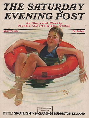 ORIG VINTAGE MAGAZINE COVER/ SATURDAY EVENING POST - AUGUST 1 1936Iverd (Illust.), Eugene, Illust. by: Eugene  Iverd - Product Image