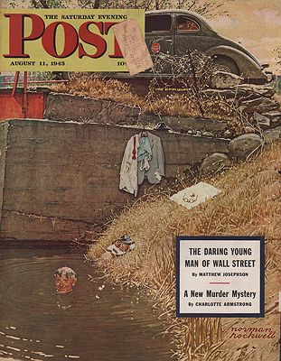 ORIG VINTAGE MAGAZINE COVER/ SATURDAY EVENING POST - AUGUST 11 1945Rockwell (Illust.), Norman - Product Image