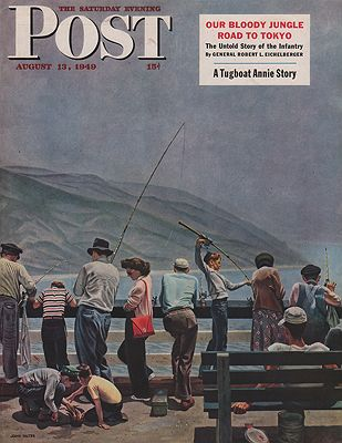 ORIG VINTAGE MAGAZINE COVER/ SATURDAY EVENING POST - AUGUST 13 1949Falter (Illust.), John, Illust. by: John  Falter - Product Image