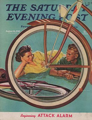 ORIG VINTAGE MAGAZINE COVER/ SATURDAY EVENING POST - AUGUST 16 1941Crockwell (Illust.), Douglas, Illust. by: Douglas  Crockwell - Product Image