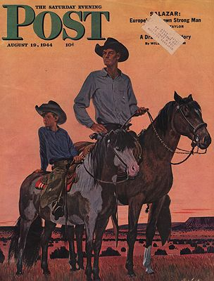ORIG VINTAGE MAGAZINE COVER - SATURDAY EVENING POST - AUGUST 19 1944Ludekens (Illust.), Fred, Illust. by: Fred  Ludekens - Product Image