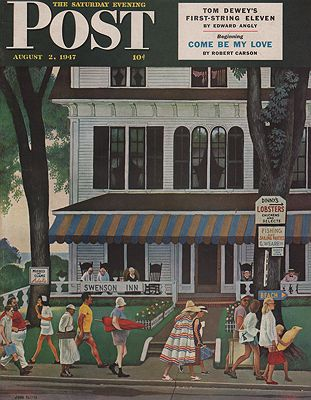 ORIG VINTAGE MAGAZINE COVER/ SATURDAY EVENING POST - AUGUST 2 1947Falter (Illust.), John, Illust. by: John   Falter - Product Image