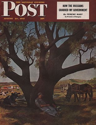 ORIG VINTAGE MAGAZINE COVER/ SATURDAY EVENING POST - AUGUST 23 1947Atherton (Illust.), John, Illust. by: John  Atherton - Product Image