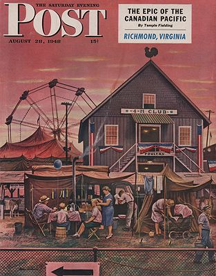 ORIG VINTAGE MAGAZINE COVER/ SATURDAY EVENING POST - AUGUST 28 1948Dohanos (Illust.), Stevan, Illust. by: Stevan  Dohanos - Product Image
