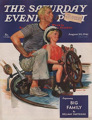 ORIG VINTAGE MAGAZINE COVER/ SATURDAY EVENING POST - AUGUST 30 1941Dye (Illust.), Charles, Illust. by: Charles  Dye - Product Image