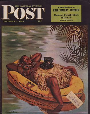 ORIG VINTAGE MAGAZINE COVER/ SATURDAY EVENING POST - DECEMBER 1 1945Dohanos (Illust.), Stevan, Illust. by: Stevan  Dohanos - Product Image