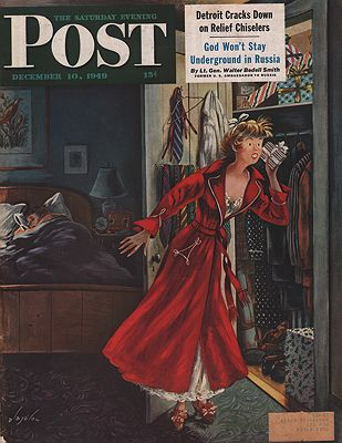 ORIG VINTAGE MAGAZINE COVER/ SATURDAY EVENING POST - DECEMBER 10 1949Alajalov (Illust.), Constantin, Illust. by: Constantin  Alajalov - Product Image