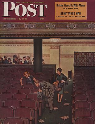 ORIG VINTAGE MAGAZINE COVER/ SATURDAY EVENING POST - DECEMBER 14 1946Dohanos (Illust.), Stevan, Illust. by: Stevan  Dohanos - Product Image