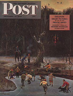 ORIG VINTAGE MAGAZINE COVER/ SATURDAY EVENING POST - DECEMBER 16 1944Falter (Illust.), John, Illust. by: John  Falter - Product Image