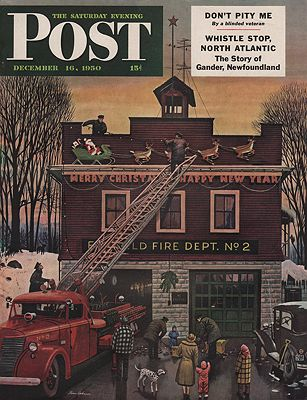 ORIG VINTAGE MAGAZINE COVER/ SATURDAY EVENING POST - DECEMBER 16 1950Dohanos, Stevan, Illust. by: Stevan  Dohanos - Product Image