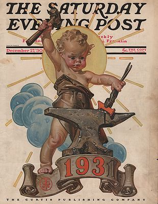 ORIG VINTAGE MAGAZINE COVER/ SATURDAY EVENING POST - DECEMBER 17 1930Leyendecker, J.C. - Product Image
