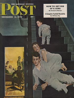 ORIG VINTAGE MAGAZINE COVER/ SATURDAY EVENING POST - DECEMBER 2 1950Hughes (Illust.), George, Illust. by: George  Hughes - Product Image