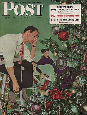 ORIG VINTAGE MAGAZINE COVER/ SATURDAY EVENING POST - DECEMBER 24 1949 Hughes (Illust.), George, Illust. by: George  Hughes - Product Image