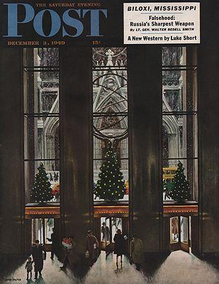 ORIG VINTAGE MAGAZINE COVER/ SATURDAY EVENING POST - DECEMBER 3 1949Falter (Illust.), John, Illust. by: John  Falter - Product Image