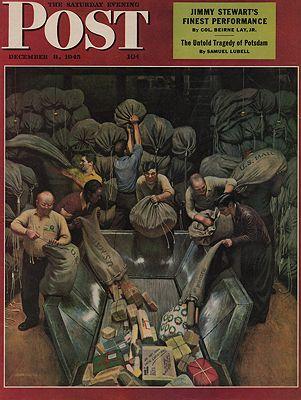 ORIG VINTAGE MAGAZINE COVER/ SATURDAY EVENING POST - DECEMBER 8 1945Falter (Illust.), John, Illust. by: John  Falter - Product Image