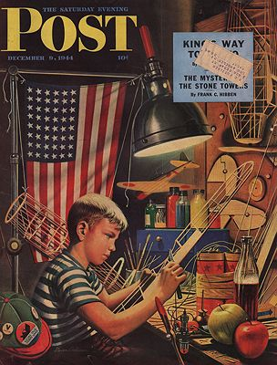 ORIG VINTAGE MAGAZINE COVER/ SATURDAY EVENING POST - DECEMBER 9 1944Dohanos (Illust.), Stevan, Illust. by: Stevan  Dohanos - Product Image