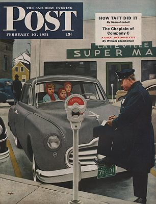 ORIG VINTAGE MAGAZINE COVER/ SATURDAY EVENING POST - FEBRUARY 10 1951Hughes (Illust.), George, Illust. by: George  Hughes - Product Image