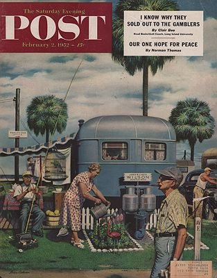 ORIG VINTAGE MAGAZINE COVER/ SATURDAY EVENING POST - FEBRUARY 2 1952Dohanos (Illust.), Stevan, Illust. by: Stevan  Dohanos - Product Image