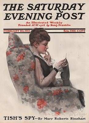 ORIG VINTAGE MAGAZINE COVER/ SATURDAY EVENING POST - FEBRUARY 20 1915MacLellan (Illust.), Charles , Illust. by: Chas.  McClellan - Product Image