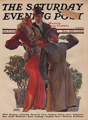 ORIG VINTAGE MAGAZINE COVER/ SATURDAY EVENING POST - FEBRUARY 27 1932Lagatta (Illust.), John, Illust. by: John  Lagatta - Product Image