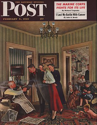 ORIG VINTAGE MAGAZINE COVER/ SATURDAY EVENING POST - FEBRUARY 5 1949Falter (Illust.), John, Illust. by: John  Falter - Product Image