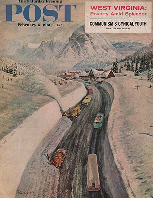 ORIG VINTAGE MAGAZINE COVER - SATURDAY EVENING POST - FEBRUARY 6 1960Clymer (Illust.), John, Illust. by: John  Cylmer - Product Image