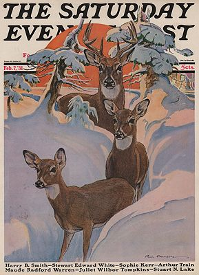ORIG VINTAGE MAGAZINE COVER/ SATURDAY EVENING POST - FEBRUARY 7 1931Bransom (Illust.), Paul, Illust. by: Paul  Bransom - Product Image
