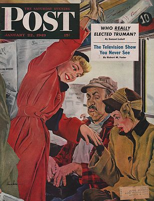 ORIG VINTAGE MAGAZINE COVER/ SATURDAY EVENING POST - JANUARY 22 1949Hughes (Illust.), George, Illust. by: George  Hughes - Product Image