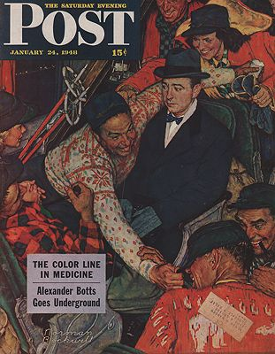 ORIG VINTAGE MAGAZINE COVER/ SATURDAY EVENING POST - JANUARY 24 1948Rockwell (Illust.), Norman, Illust. by: Norman  Rockwell - Product Image