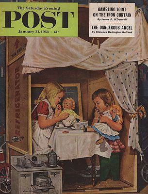 ORIG VINTAGE MAGAZINE COVER/ SATURDAY EVENING POST - JANUARY 31 1953Dohanos (Illust.), Stevan, Illust. by: Stevan  Dohanos - Product Image