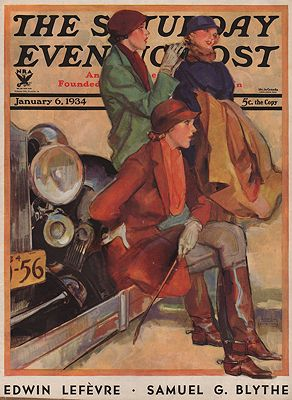 ORIG VINTAGE MAGAZINE COVER/ SATURDAY EVENING POST -JANUARY 6 1934LaGatta (Illust.), John, Illust. by: John  LaGatta - Product Image