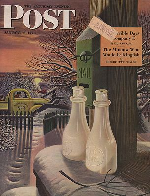 ORIG VINTAGE MAGAZINE COVER/  SATURDAY EVENING POST - JANUARY 8 1944Dohanos (Illust.), Stevan, Illust. by: Stevan  Dohanos - Product Image