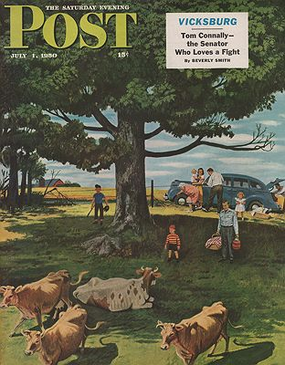 ORIG VINTAGE MAGAZINE COVER/ SATURDAY EVENING POST - JULY 1 1950Dohanos (Illust.), Stevan, Illust. by: Stevan  Dohanos - Product Image