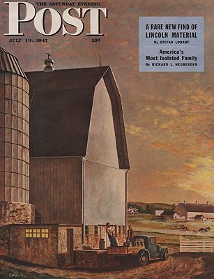 ORIG VINTAGE MAGAZINE COVER/ SATURDAY EVENING POST - JULY 19 1947Atherton (Illust.), John, Illust. by: John  Atherton - Product Image