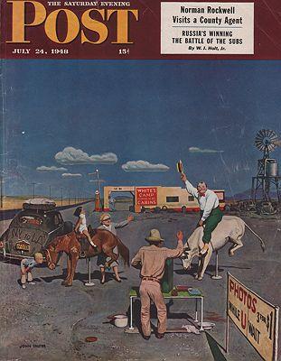 ORIG VINTAGE MAGAZINE COVER/ SATURDAY EVENING POST - JULY 24 1948Falter (Illust.), John, Illust. by: John  Falter - Product Image
