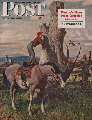 ORIG VINTAGE MAGAZINE COVER - SATURDAY EVENING POST - JULY 30 1949Clymer (Illust.), John, Illust. by: John  Clymer - Product Image