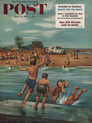 ORIG VINTAGE MAGAZINE COVER/ SATURDAY EVENING POST - JULY 31 1954Dohanos (Illust.), Stevan, Illust. by: Stevan  Dohanos - Product Image