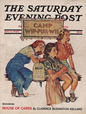 ORIG VINTAGE MAGAZINE COVER/  SATURDAY EVENING POST - JULY 6 1940Crockwell (Illust.), Douglas, Illust. by: Douglas  Crockwell - Product Image