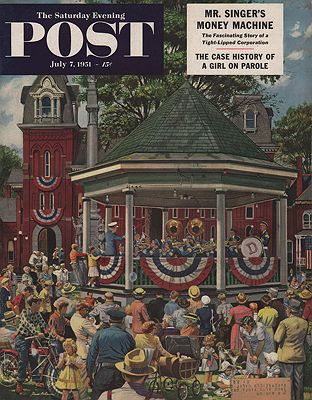 ORIG VINTAGE MAGAZINE COVER/ SATURDAY EVENING POST - JULY 7 1951Dohanos (Illust.), Stevan, Illust. by: Stevan  Dohanos - Product Image