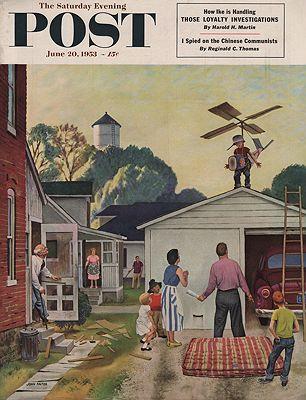 ORIG VINTAGE MAGAZINE COVER/ SATURDAY EVENING POST - JUNE 20 1953Falter (Illust.), John, Illust. by: John  Falter - Product Image